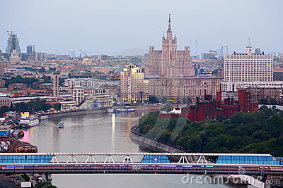 Bridge in Moscow International Business Center