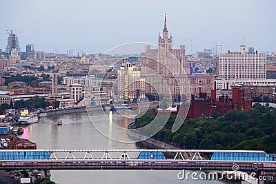 Bridge in Moscow International Business Center