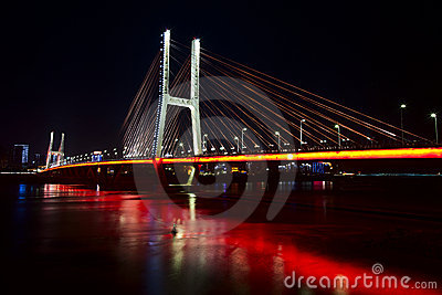 Bridge in night