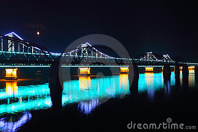 Bridge at night,