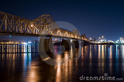 Bridge at Night Louisville Kentucky