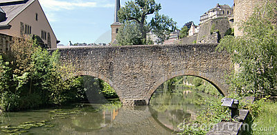 Bridge over Alzette river