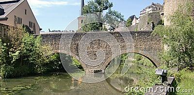 Bridge over Alzette river