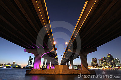 Bridge over the Biscayne Bay, Miami