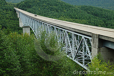 Bridge over canyon