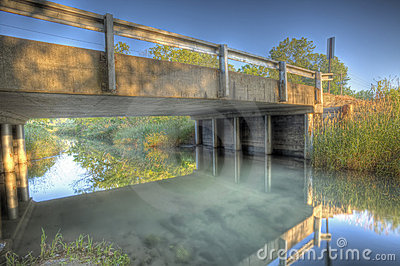 Bridge over creek HDR