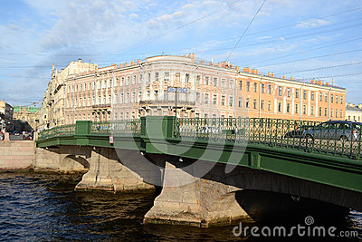 The bridge over the Fontanka canal Editorial Photo
