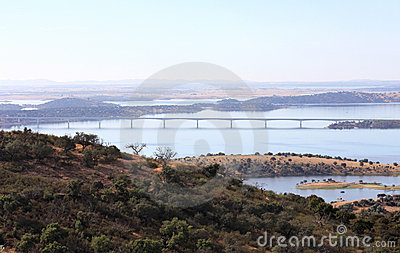 Bridge over the Guadiana River in Portugal