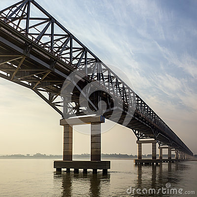Bridge over the Irrawaddy River - Myanmar (Burma)