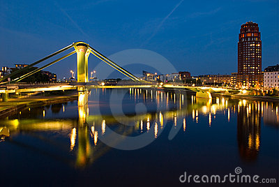Bridge over Main River, Frankfurt Germany