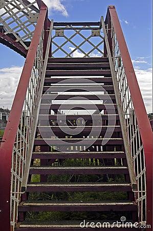 Bridge over a railway line