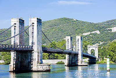 Bridge over Rhone river