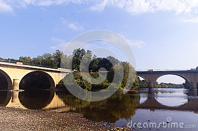 Bridge over river Dordogne Limeuil