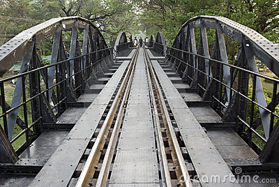Bridge over River Kwai Editorial Stock Photo