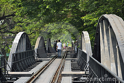 Bridge over River Kwai Editorial Photography