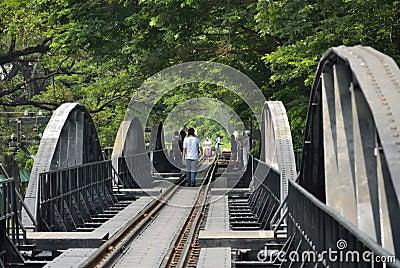 Bridge over River Kwai Editorial Photography
