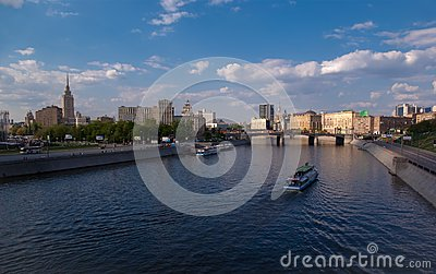 Bridge over river Moskva in Moscow