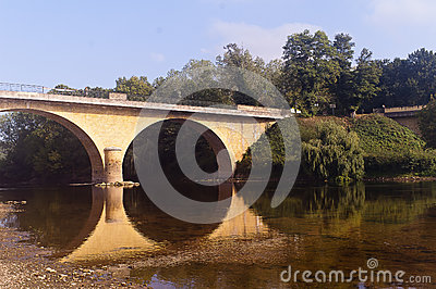 Bridge over river Vezere Limeuil