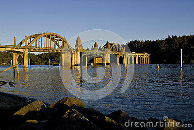 Bridge over the Siuslaw River Florence Oregon
