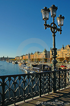 Free Bridge Over Stockholm Waterfro Royalty Free Stock Photography - 2461097