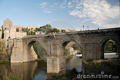 Bridge over the Tagus river in Toledo