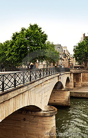 Free Bridge Over The River Seine, P Stock Image - 5568851