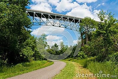 Bridge over trail