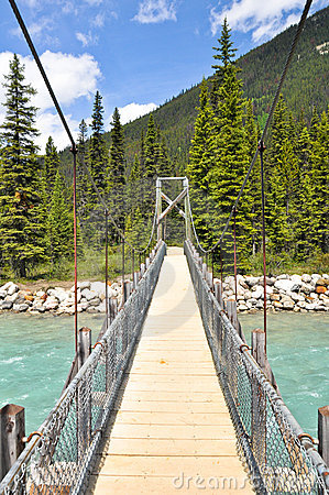 Bridge over Vermilion river at Kootenay National P