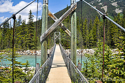 Bridge over Vermilion river at Kootenay NP