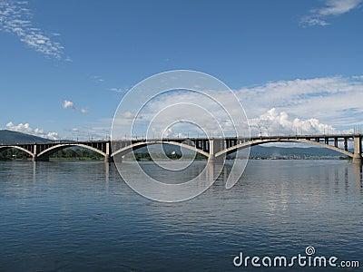Bridge over Yenisei river