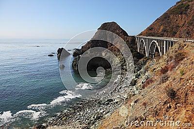 The  bridge on the Pacific coast of the USA