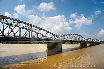 Bridge on the parfum river, Hue, Vietnam.