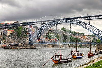 Bridge Ponte dom Luis, Oporto, Portuga