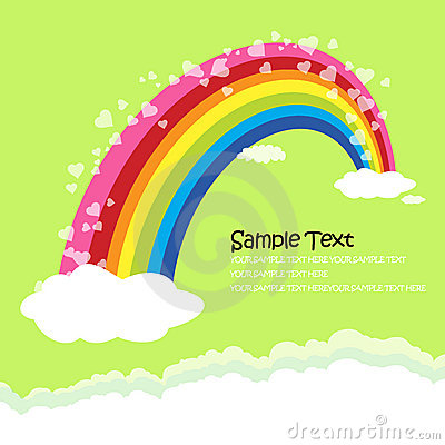 The Bridge of rainbow - love concept greeting card