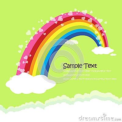 The Bridge of rainbow - love concept greeting card