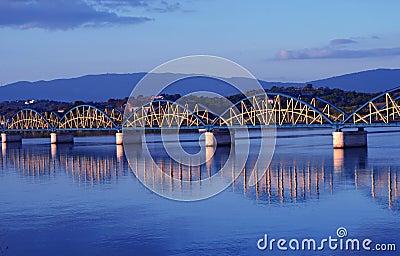 Bridge with reflection.