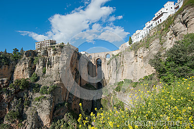 Bridge in Ronda, Andalusia, ronda, Spain