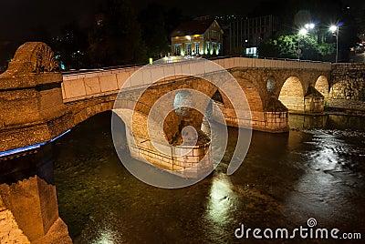 Bridge in Sarajevo, Bosnia and Herzegovina Editorial Image