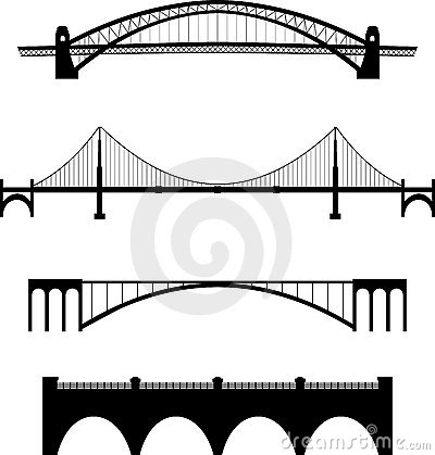 Free Bridge Set Royalty Free Stock Photography - 18889217