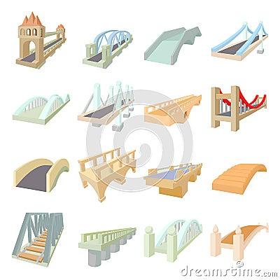 Free Bridge Set Icons Stock Photography - 71064882