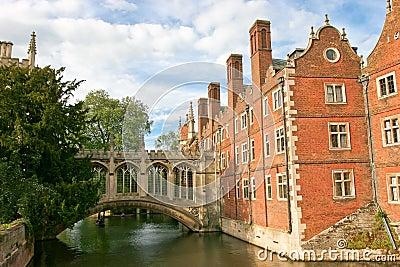 Bridge of Sighs in Cambridge University