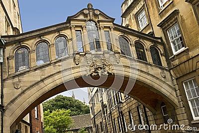 Bridge of Sighs in Oxford - England