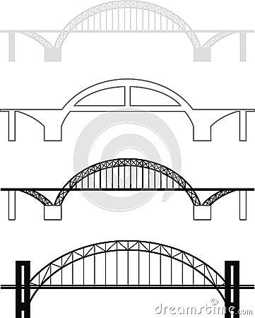 Free Bridge Silhouettes Stock Image - 20429771