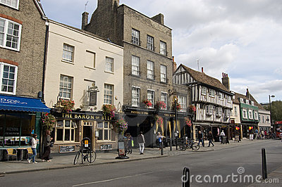 Bridge Street pubs, Cambridge Editorial Stock Image