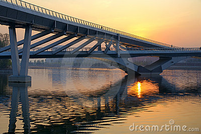 Bridge and sunset