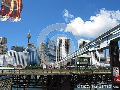 Swing bridge rotation Editorial Photography