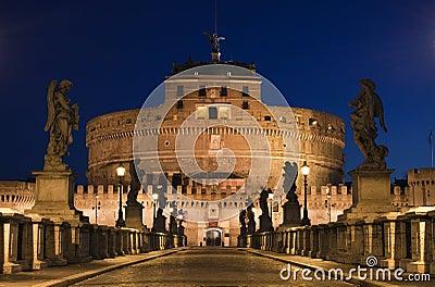 The bridge to the Castel Sant Angelo, Rome, Italy