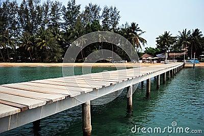Bridge to Koh Mak port