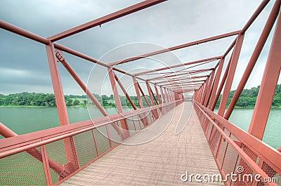 Bridge to Lorong Halus Wetland, Singapore