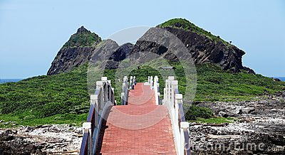 Bridge to the Sansiantai scenic park at Taitung County, Taiwan